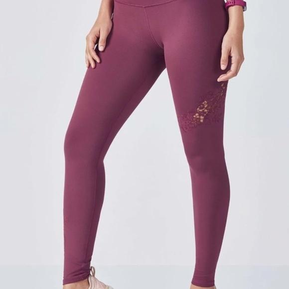 6b6cf622cf Fabletics Pants | Pull On Cut Out Embroidery Legging Sz L New | Poshmark